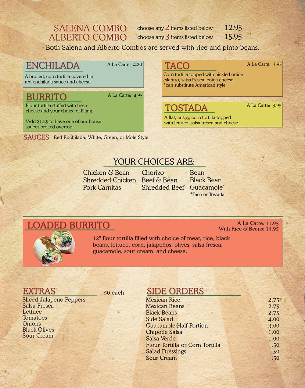 Salena's Mexican Restaurant Menu - Page 5
